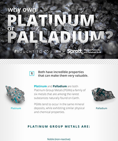Why Own Platinum or Palladium