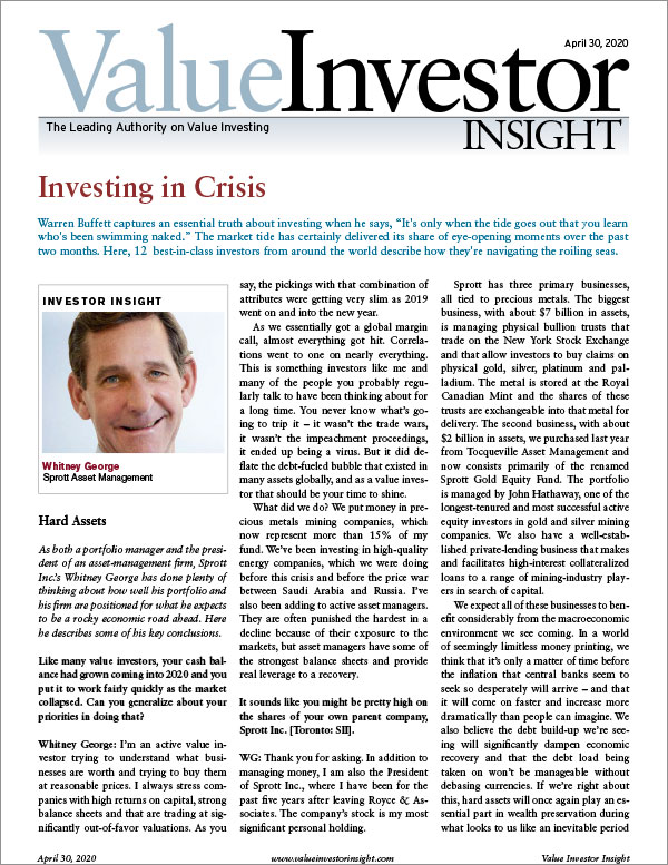 Investing in Crisis